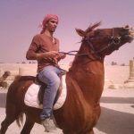 Rami horse riding in Palmyra, Syria